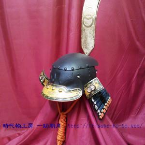 置手拭形兜,雑賀鉢 時代物工房 一助朋月の甲冑,フルオーダー鎧兜